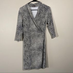 J. McLaughlin Small Catalina Cloth Faux Wrap Dress